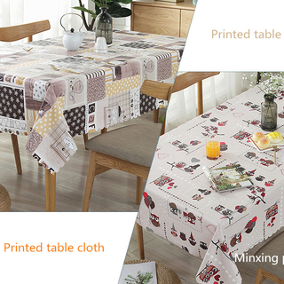 color printed tablecloth