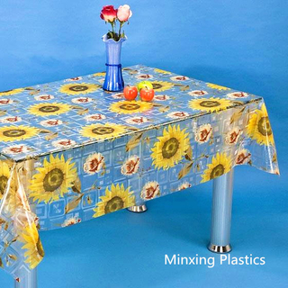 transparent printed tablecloth